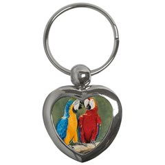 Feathered Friends Key Chain (heart)