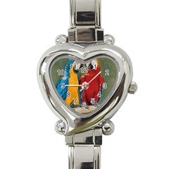 Feathered Friends Heart Italian Charm Watch