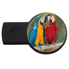Feathered Friends 4gb Usb Flash Drive (round)