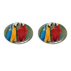 Feathered Friends Cufflinks (Oval)