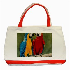 Feathered Friends Classic Tote Bag (red)