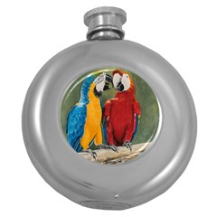 Feathered Friends Hip Flask (round)