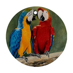 Feathered Friends Round Ornament (two Sides)
