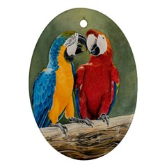 Feathered Friends Oval Ornament (Two Sides)