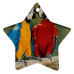 Feathered Friends Star Ornament (Two Sides)