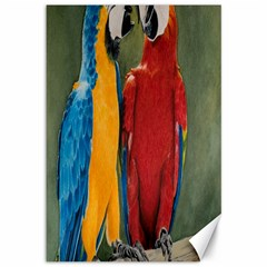 Feathered Friends Canvas 12  x 18  (Unframed)