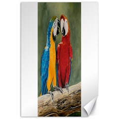 Feathered Friends Canvas 24  x 36  (Unframed)