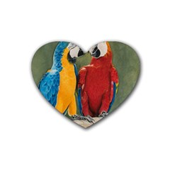 Feathered Friends Drink Coasters (heart)