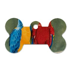 Feathered Friends Dog Tag Bone (One Sided)
