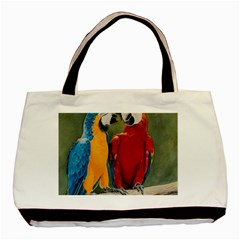 Feathered Friends Twin Sided Black Tote Bag