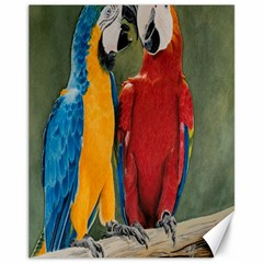 Feathered Friends Canvas 11  X 14  (unframed)