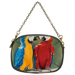 Feathered Friends Chain Purse (one Side)