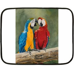 Feathered Friends Mini Fleece Blanket (Two Sided)
