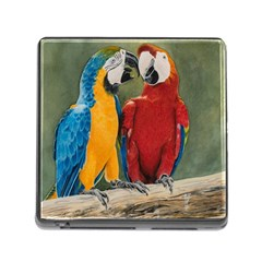 Feathered Friends Memory Card Reader with Storage (Square)