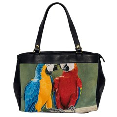 Feathered Friends Oversize Office Handbag (Two Sides)