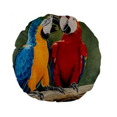 Feathered Friends 15  Premium Round Cushion
