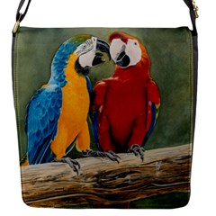 Feathered Friends Flap Closure Messenger Bag (Small)