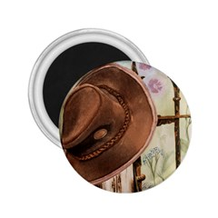 Hat On The Fence 2.25  Button Magnet