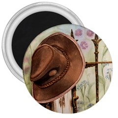 Hat On The Fence 3  Button Magnet