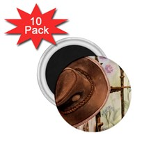 Hat On The Fence 1.75  Button Magnet (10 pack)