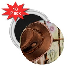 Hat On The Fence 2.25  Button Magnet (10 pack)