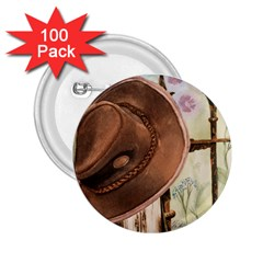 Hat On The Fence 2.25  Button (100 pack)