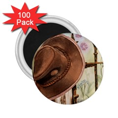 Hat On The Fence 2 25  Button Magnet (100 Pack)