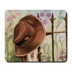 Hat On The Fence Large Mouse Pad (rectangle)