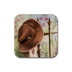 Hat On The Fence Drink Coasters 4 Pack (Square)