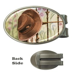 Hat On The Fence Money Clip (Oval)