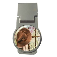 Hat On The Fence Money Clip (round)