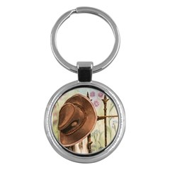 Hat On The Fence Key Chain (Round)