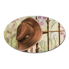 Hat On The Fence Magnet (Oval)