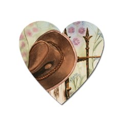 Hat On The Fence Magnet (heart)