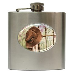 Hat On The Fence Hip Flask