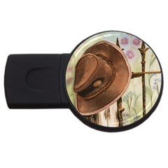 Hat On The Fence 2gb Usb Flash Drive (round)