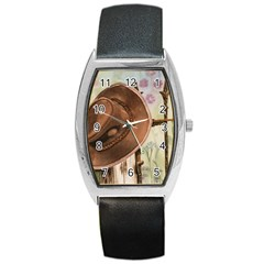 Hat On The Fence Tonneau Leather Watch