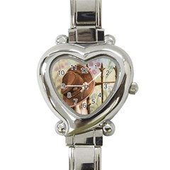 Hat On The Fence Heart Italian Charm Watch