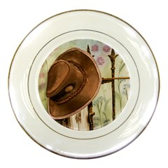 Hat On The Fence Porcelain Display Plate