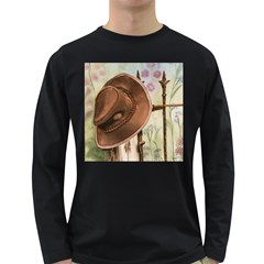 Hat On The Fence Men s Long Sleeve T-shirt (Dark Colored)