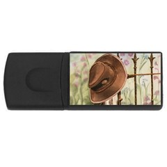 Hat On The Fence 4gb Usb Flash Drive (rectangle)