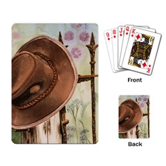 Hat On The Fence Playing Cards Single Design