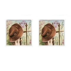 Hat On The Fence Cufflinks (Square)