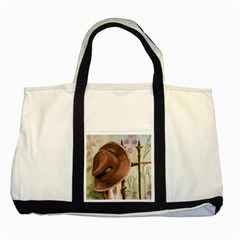 Hat On The Fence Two Toned Tote Bag