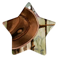 Hat On The Fence Star Ornament (Two Sides)