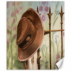Hat On The Fence Canvas 8  x 10  (Unframed)