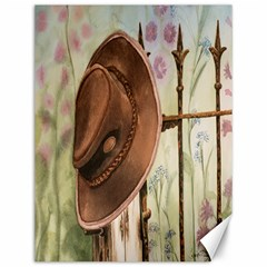 Hat On The Fence Canvas 12  X 16  (unframed)