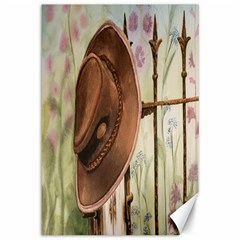 Hat On The Fence Canvas 12  x 18  (Unframed)