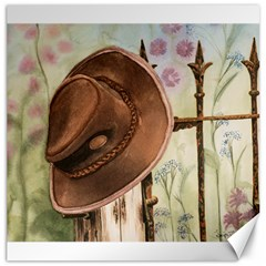 Hat On The Fence Canvas 16  X 16  (unframed)