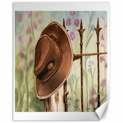Hat On The Fence Canvas 16  x 20  (Unframed)